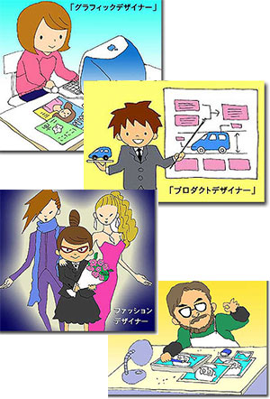 グラフィックデザイナー・プロダクトデザイナー・ファッションデザイナー・漫画家